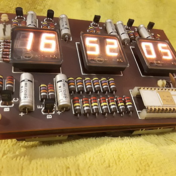 nifty (early?) digital clock/timer bare circuit board assembly - Clocks