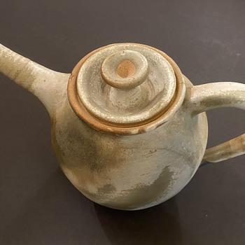 Japanese Earthenware teapot-unknown artist - Pottery