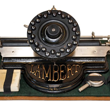 LAMBERT Typewriter Circa 1902 - Office