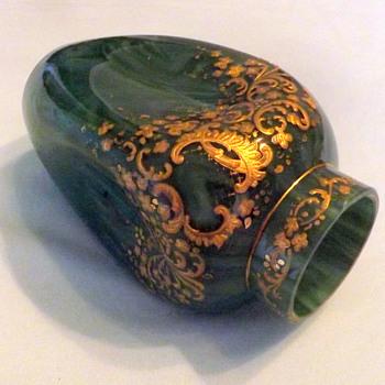 Early Loetz Marmoriertes Malachit DEK Prod. Nr. I-200 Enamelled Vase  - Art Nouveau