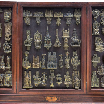 Some of my antique brass door knocker collection - Victorian Era