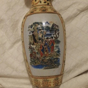 antique looking asian vase - Asian