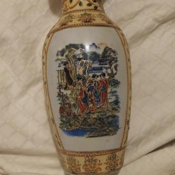 antique looking asian vase