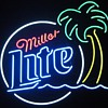 Miller Lite Palm Tree Neon