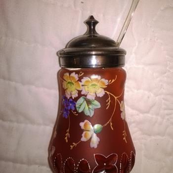 Unknown Mustard Jar - Art Glass
