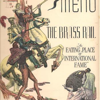 Menu: The Brass Rail, July 1940 - Paper