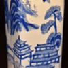 Chinese Vase with Blue and White Willow Pattern