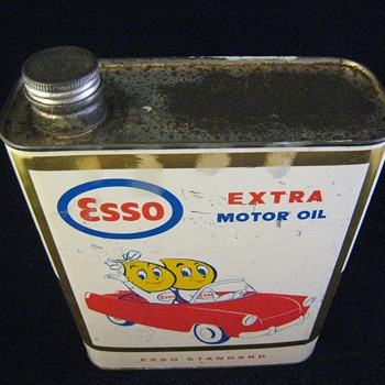 Esso Motor Oil Can 2 Liters