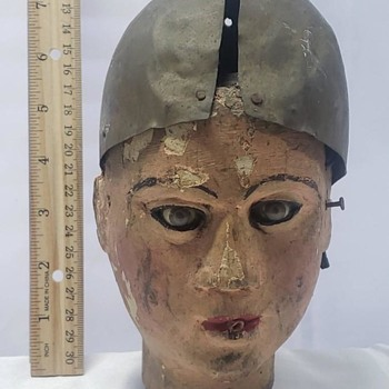 Antique Wood Carved Puppet Head - Dolls
