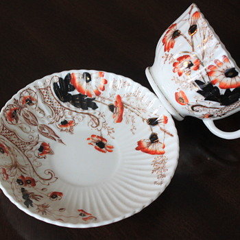 """LOVELY ANTIQUE TEACUP SAUCER """"GAWDY WELCH"""" ?? - China and Dinnerware"""