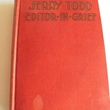 Jerry Todd,Editor-In-Grief, copyright 1930 - Books