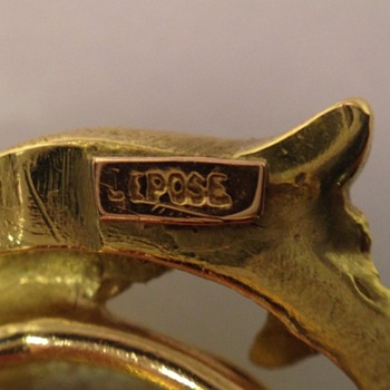 French gold griffin ring