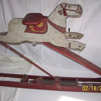 Hydraulic Rocking Horse - Folk Art