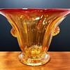 Amberina Vase attributed to Napoleone Martinuzzi V.S.M. Venini & C. Italy 1925