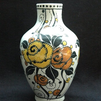 charles catteau & boch freres vase, circa 1920