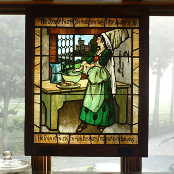 King Arthur and Queen of Heart Stained Glass in kitchen  - Art Glass