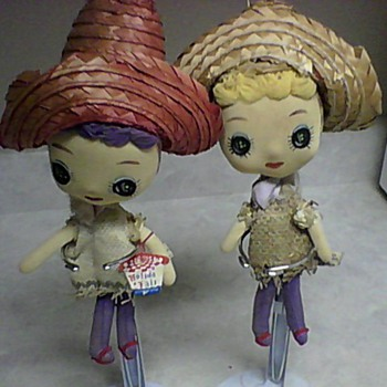 TWO HOLIDAY FAIR DOLLS - Dolls