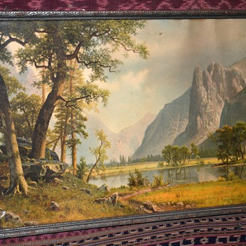 Nice, old print of Yosemite Valley