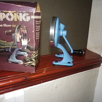 Spong Bean Slicer Vintage Retro 60s - 70's in Blue, normally Green boxed never used. - Kitchen