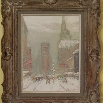 Times Square in Winter by Johann Berthelsen - Fine Art