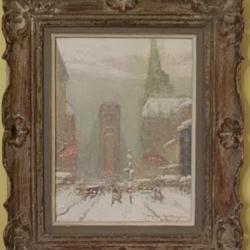 Times Square in Winter by Johann Berthelsen - Fine Art