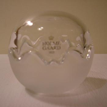 Holmegaard   Mixed Double Bonbonnière - Art Glass