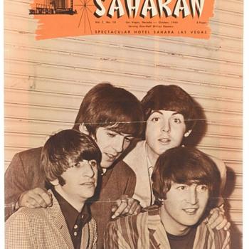 Beatles Sahara Hotel Magazine-October 1964 - Music Memorabilia