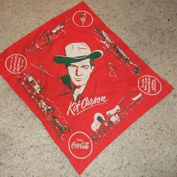 1953 Kit Carson Coca-Cola kercheif - Coca-Cola