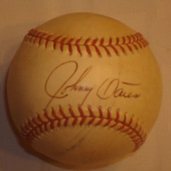 Johnny Oates Signed Ball - Baseball