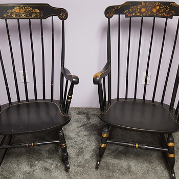 S. Bent And Bros Colonial Rocking Chairs