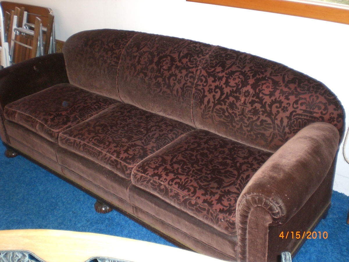 Surprising Parents 1920 S Sleeper Sofa Two Chair Set Collectors Weekly Gmtry Best Dining Table And Chair Ideas Images Gmtryco
