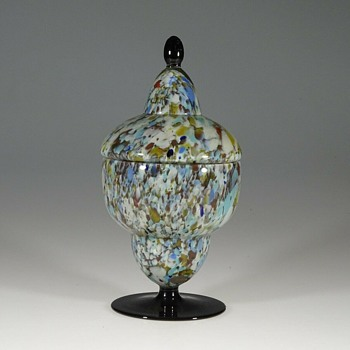 Another Conundrum - How Many Czech Glass Producers Made These Footed Jars? - Art Glass