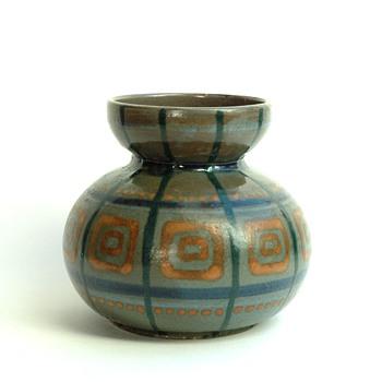 small art deco pottery vase by LEON ELCHINGER - Art Deco