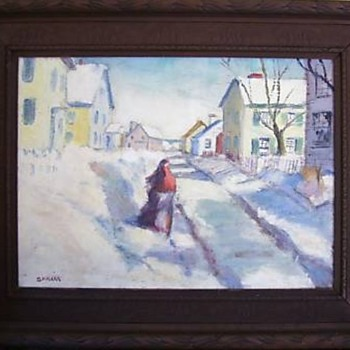 My favorite winter and fall themed mystery paintings - Fine Art