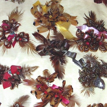 Handmade pheasant corsages, Deadwood, South Dakota