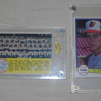 1958 Topps Yankees Team Card, 1982 Donruss Cal Ripken Jr. Rookie Card