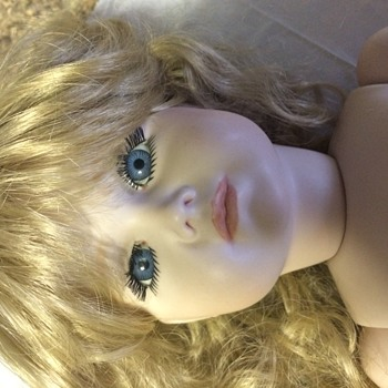 "Beautiful all bisque ball jointed 23"" doll.  Possible reproduction.  - Dolls"