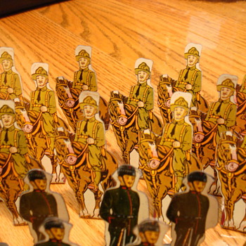 sheet metal army men - Military and Wartime