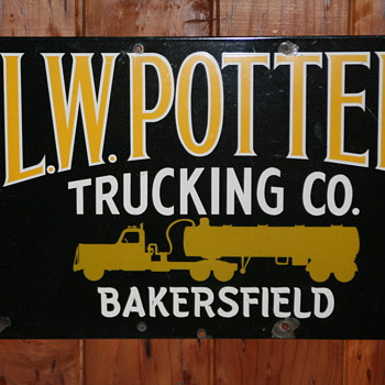 L.W. POTTER TRUCKING CO.Sign
