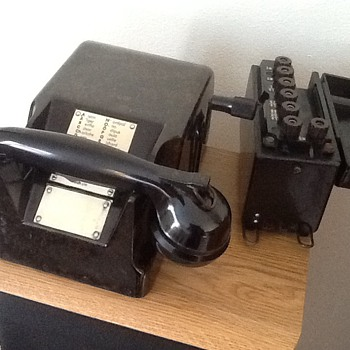 """Tischfernsprecher 38"" German WWII Bunker Telephone - 1939"