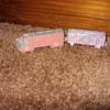 pot metal train and firetruck