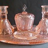 Pink Glass Dressing Table Set - Mystery!