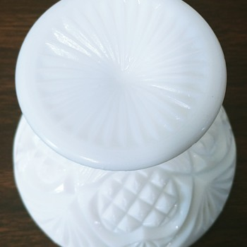 Milk Glass Dish - Glassware
