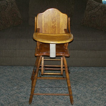 1920 combo Highchair/Potty Chair/Stroller - Furniture