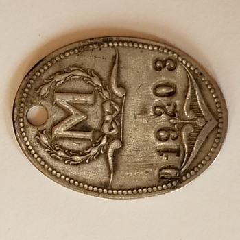 Antique Key Tag - US Coins