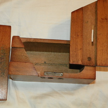 Small Antique Wooden Bank