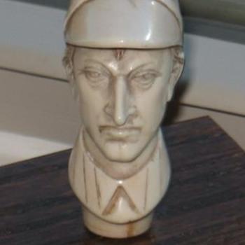 Fred Archer Jockey Ivory Cane Topper  - Victorian Era