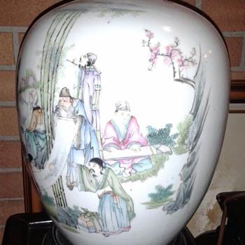 Chinese Antique Porcelain Vase/Lamp - Asian