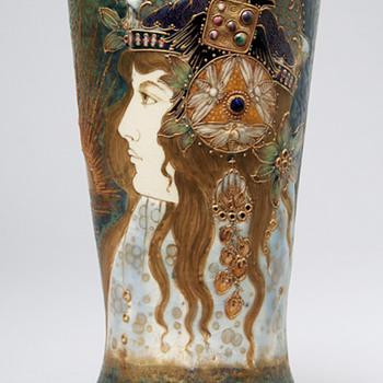 """Amphora Art Nouveau """"Aurora"""" Vase - Pottery"""