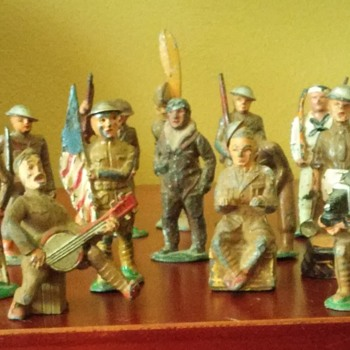 antique lead toy soldiers - Toys